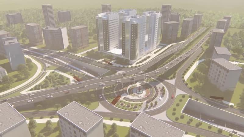 Road junction in the city of Shymkent -Shymkent qalasındağı jol torabı
