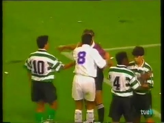 Copa UEFA 1994/95 Real Madrid vs Sporting Lisboa 1-0  (PARTIDO COMPLETO / FULL MATCH UEFA CUP)