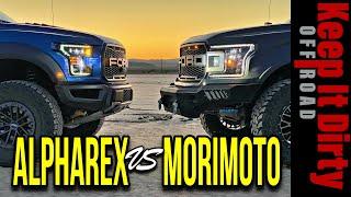 AlphaRex Vs Morimoto comparison Ford F-150 / Raptor