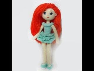 Кукла крючком из пряжи с каркасом.Как связать куклу крючком #принцесса#