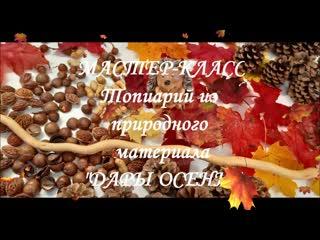 "Мастер-класс ""Топиарий ""ДАРЫ ОСЕНИ"""