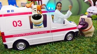 Doktor Aua hilft den Tieren. Spielzeug Video für Kinder