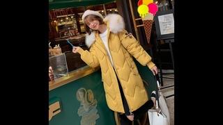 Зимняя куртка женская приталенная
