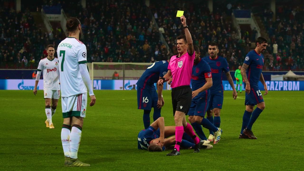 Локомотив - Атлетико, 1:1. Арбитр Бенуа Бастьен