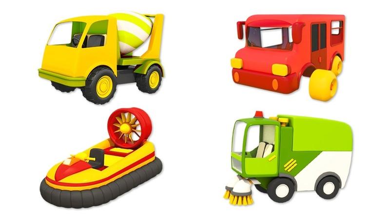 Çocuklar için çizgi film Oyuncak kamyon Leo ve araçlar Bebek şarkıları