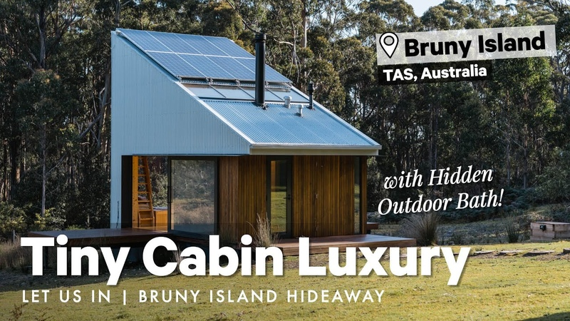 Tiny Cabin Luxury w Hidden Outdoor Bath 🛁 Bruny Island Hideaway Let Us In Home Tour S01E27