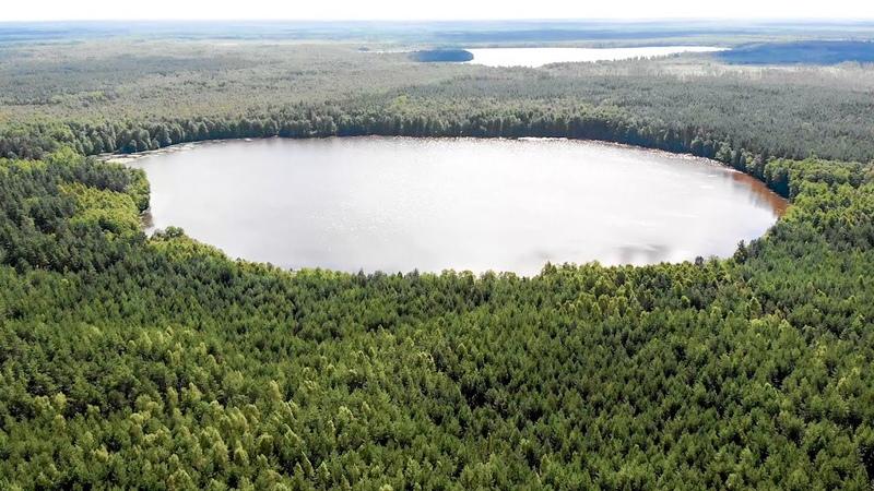 Озеро Круглец около заброшенной военной базы в лесах мещеры Заповедная Россия Релаксация Мещера