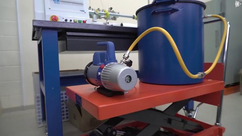 Проект Дуюнова Первый запуск установки вакуумирования