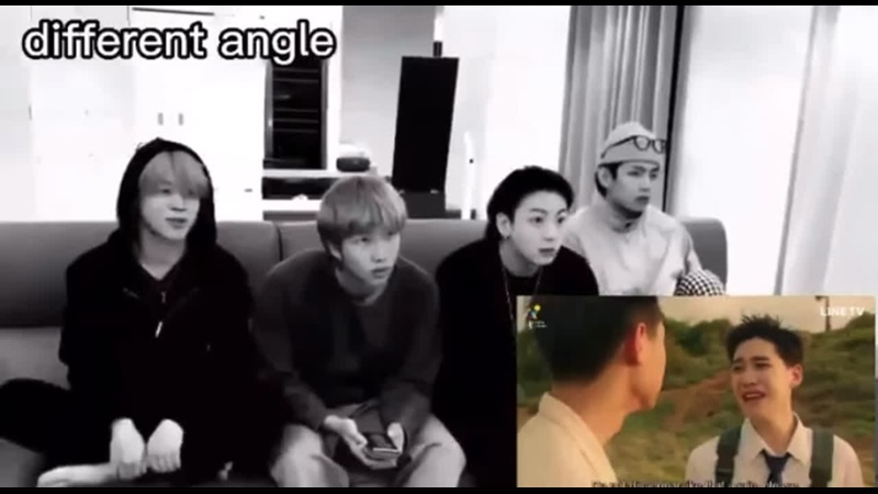 Tae's unimpressed cause he already knows smth will go down in the second part