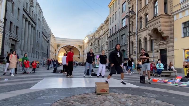 BBOY ONE SHOT он же Ведущий Семенихин Иван Брейк данс шоу МАСТЕРА СИТУАЦИЙ на Дворцовой 2020