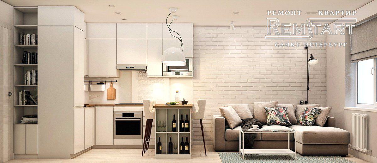 Проект квартиры-студии 24 м.
