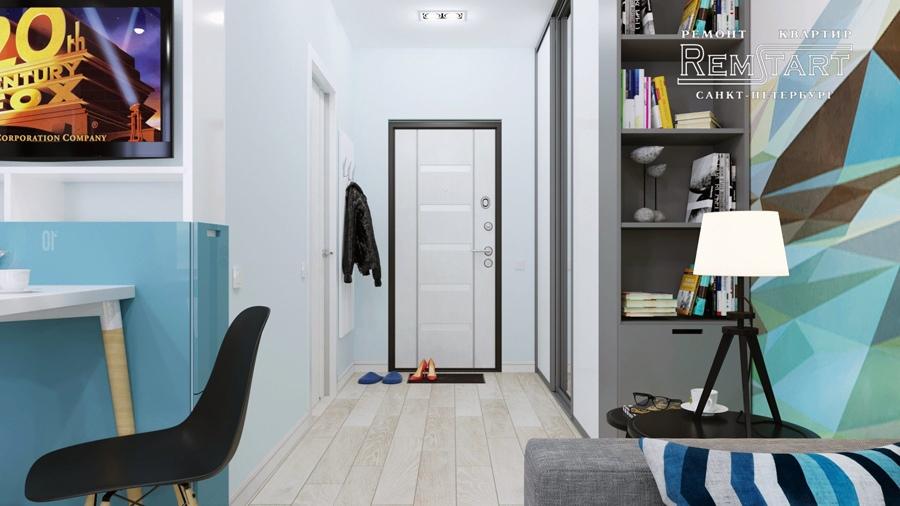 Проект квартиры-студии 28 м в Санкт-Петербурге.