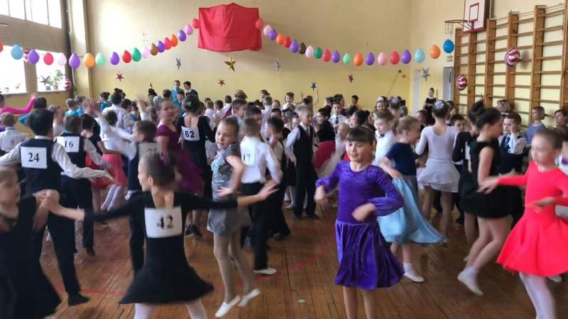 Общий танец всех участников конкурса 2 класс