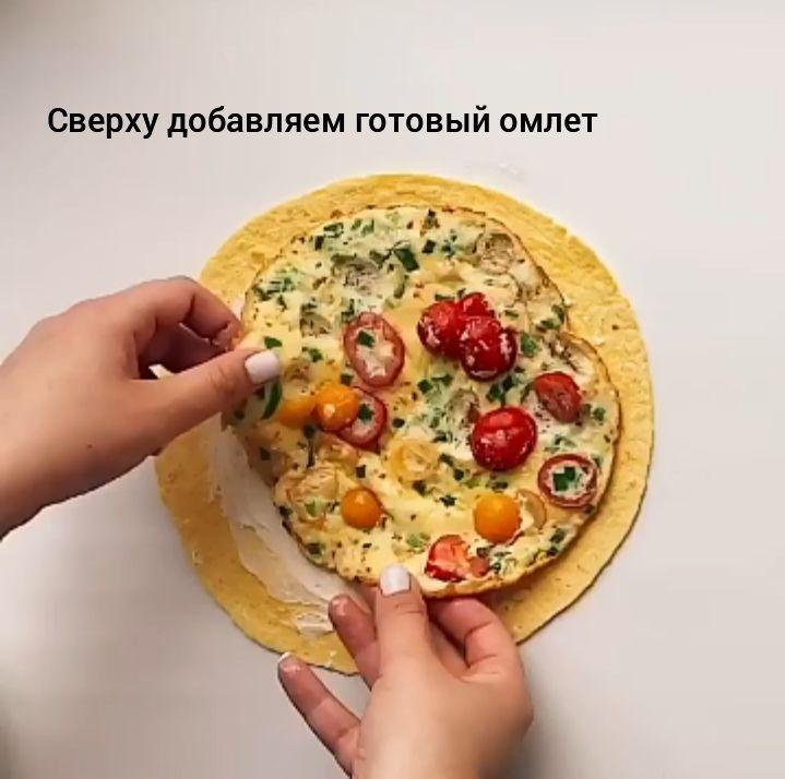 Ролл с омлетом