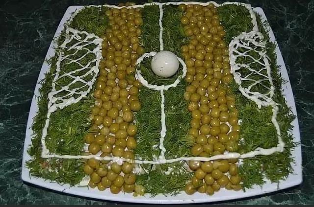 """как сделать салат !Футбольный мяч"""", как сделать салат !Футбол"""", как сделать салат """"Футбольное поле"""", как сделать футбольный салат,"""