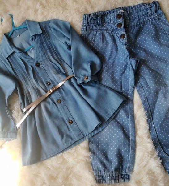 В отличном состоянии, ткань лёгкая джинса....