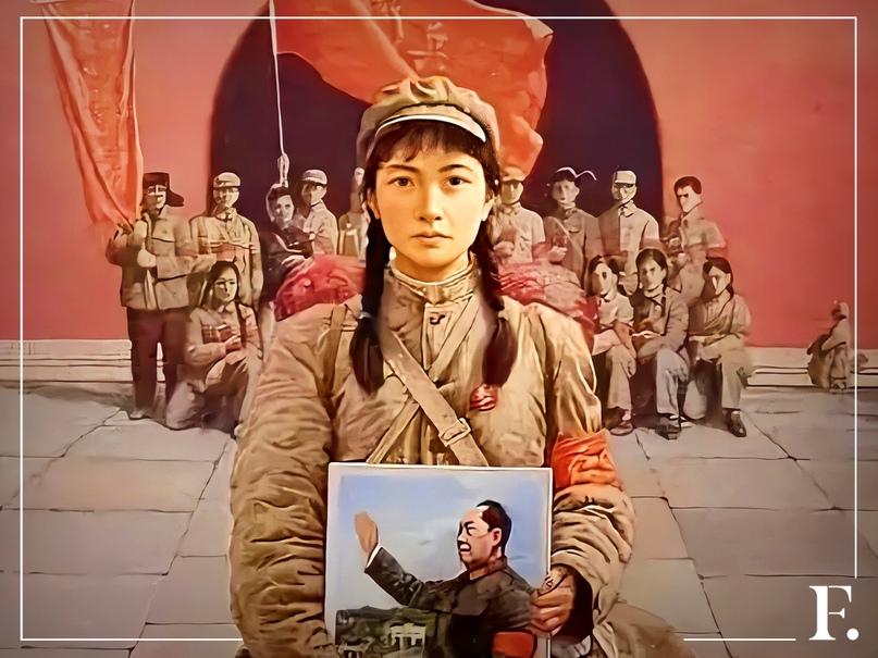 Китайские хунвейбины у мавзолея Ленина