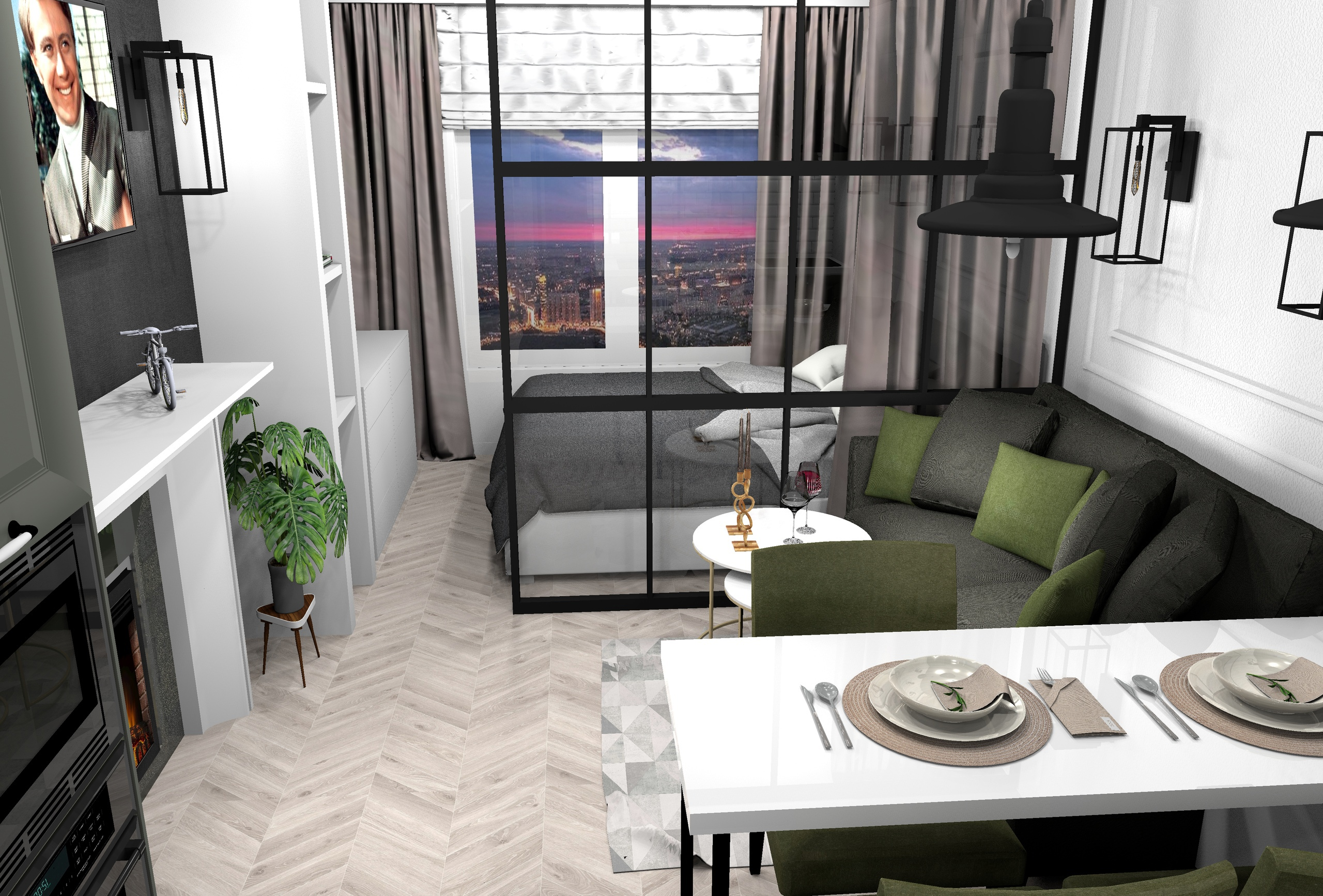 Проект квартиры-студии 28.