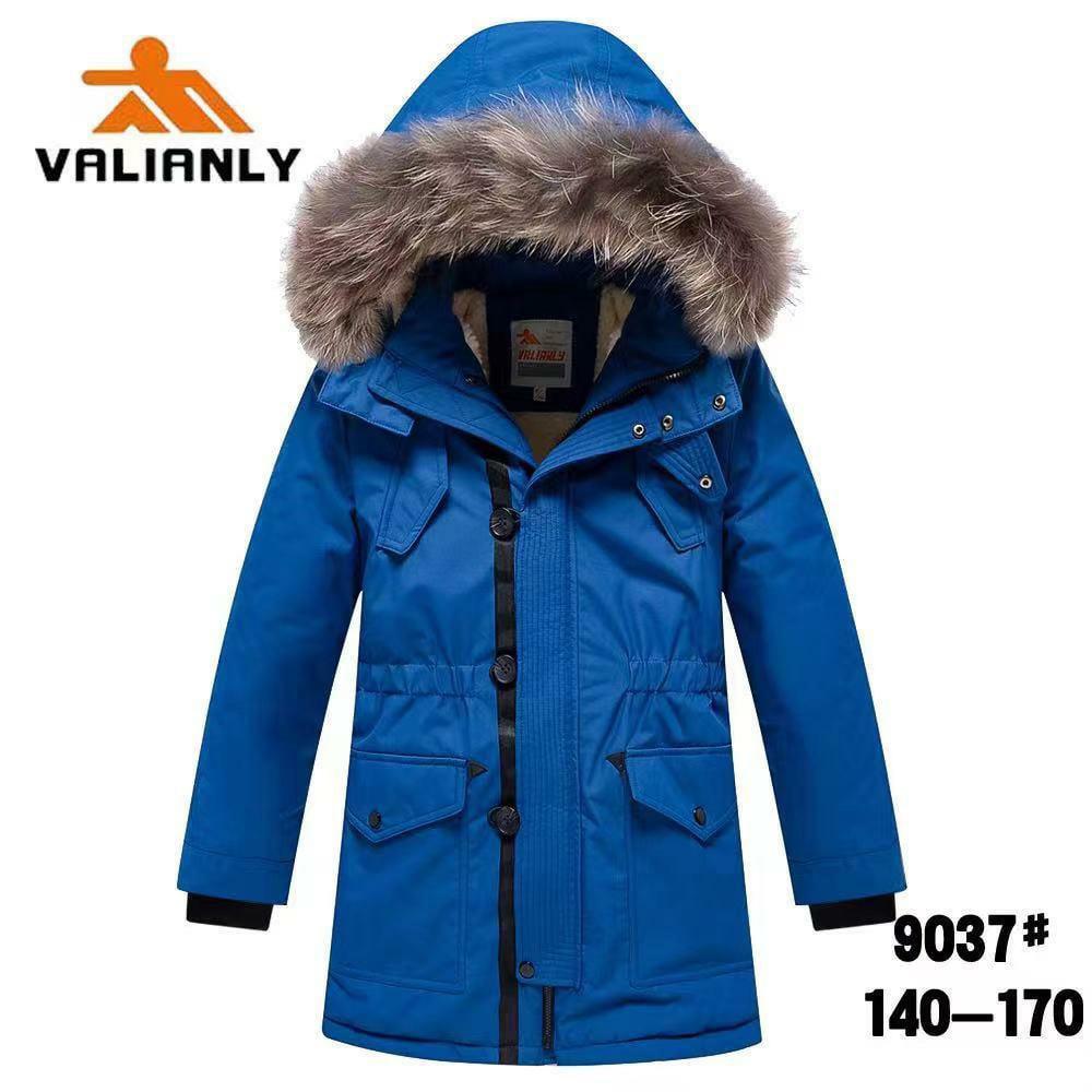 Зимняя парка Valianly 9037 синяя