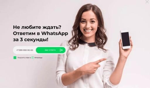 WhatsApp Hunter, установленный на сайте
