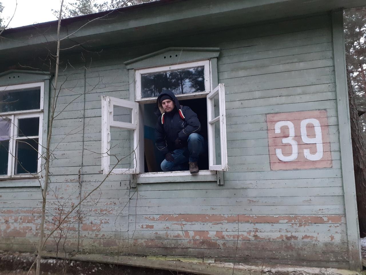 Коккорево зимой. Заброшенный лагерь