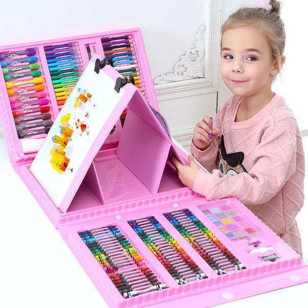208 шт., Набор цветных карандашей для рисования детей