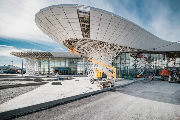 Завершен монтаж кровли нового терминала аэропорта ...