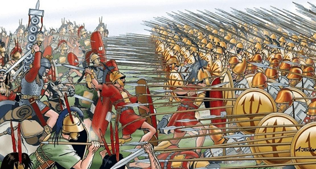 Бой римлян и македонян