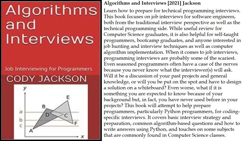 📕 Algorithms and Interviews [2021] Jackson