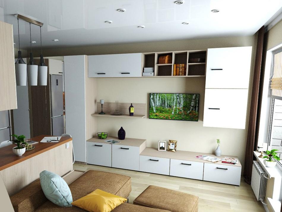Проект квартиры-студии типовой планировки почти 25 кв.