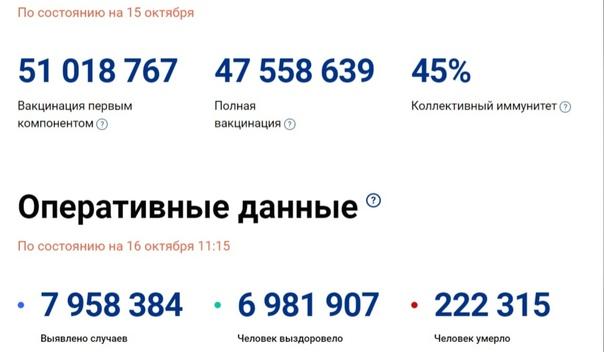 Счетчик вакцинации от COVID-19 запустили в России....