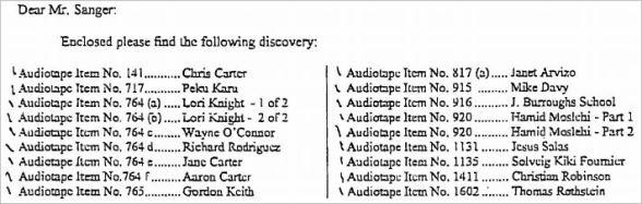 Обвинение допросило Аарона и Джейн Картер, но никогда не вызывало их в качестве свидетелей.