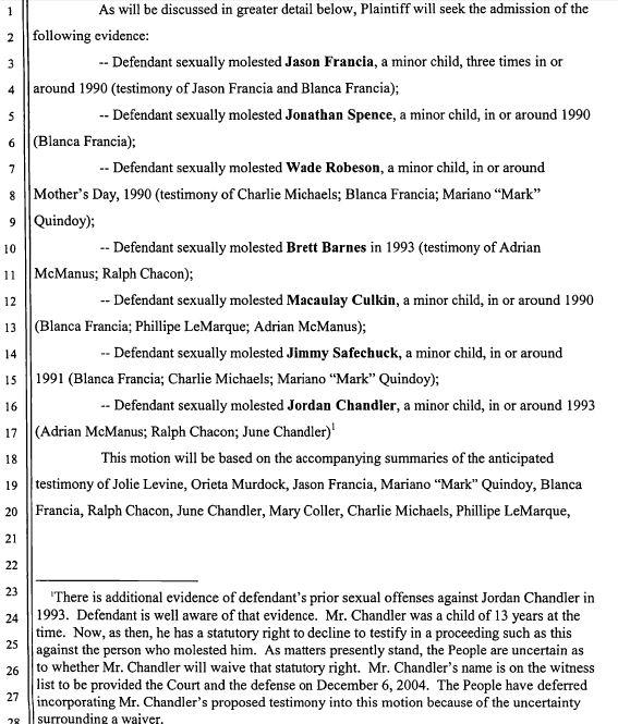 Выдержка из ходатайства обвинения № 1108 от 10 декабря 2004 г.