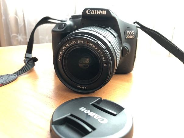 Фотоаппарат зеркальный CANON EOS 2000D В комплекте...