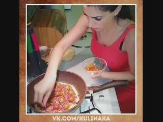 Быстрая пицца на сковороде.  Мама дорогая, как это вкусно! Осторожно: это слишком вкусно!
