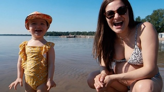 Sophia's First Beach Day + GRWM For Baby Shower Day!