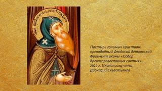Беседа 32. Преподобный Феодосий Ветковский
