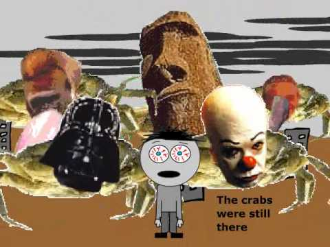 Crab flash video A frightened boy by Joel Veitch