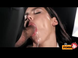 Spanish Beauty Apolonia Lapiedra Sucks A Bunch of Dicks with Cum in Her Mouth