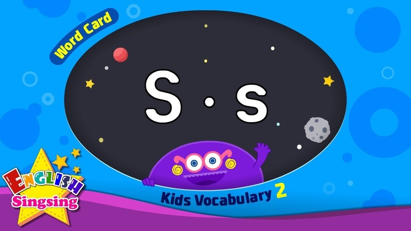 Kids vocabulary compilation ver 2 Words Cards starting with S s Repeat after Ting sound