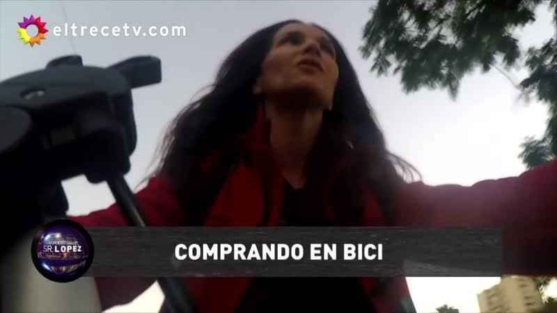 Natalia Oreiro paseó en bicicleta junto al Pelado y terminaron en el Mercado de las Pulgas