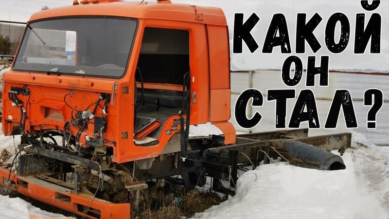 Восстановили КамАЗ 65225 тягач Батыр мощный КамАЗ для Севера