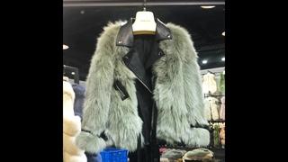 Женская двухсторонняя кожаная куртка rosevans, импортная локомотив из натурального лисьего меха,