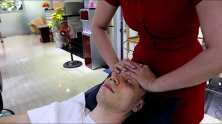 ASMR Incredible Full Treatment in Vietnamese Barbershop Face Massage, Body Massage, Ear Cleaning