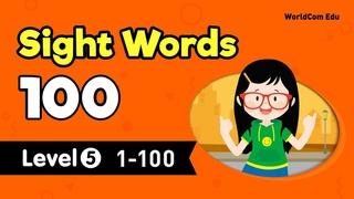 Learn English through Sight Words 100 LEVEL 5 Full | Kindergarten English with Brian Stuart | 영어 공부