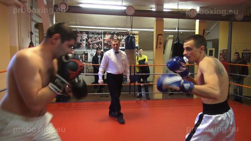 08.02.2015 Andrejs Volinčuks (LAT) VS Vadims Tihomirovs (LAT) Fight 1 proboxing.eu