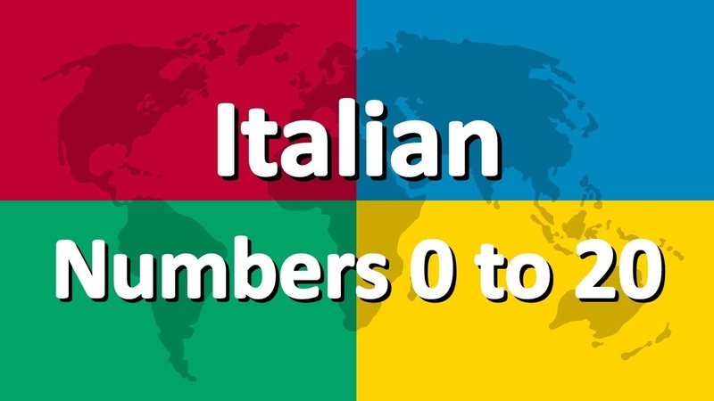 Learn Italian part 4 | Numbers 0 to 20