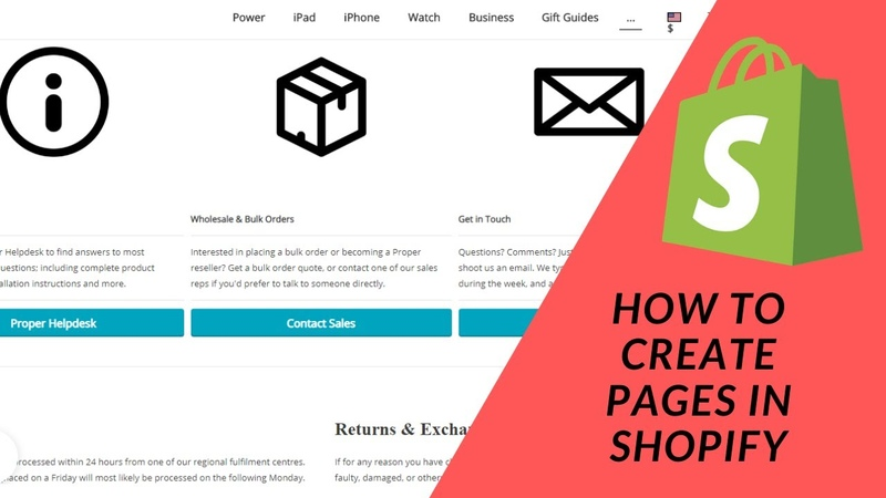 Shopify Tutorial How To Start a Profitable eCommerce Store Part 7 Create Pages