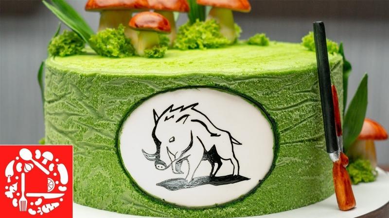 5 Часов За 5 Минут Как красиво украсить торт мужчине Торт для охотника