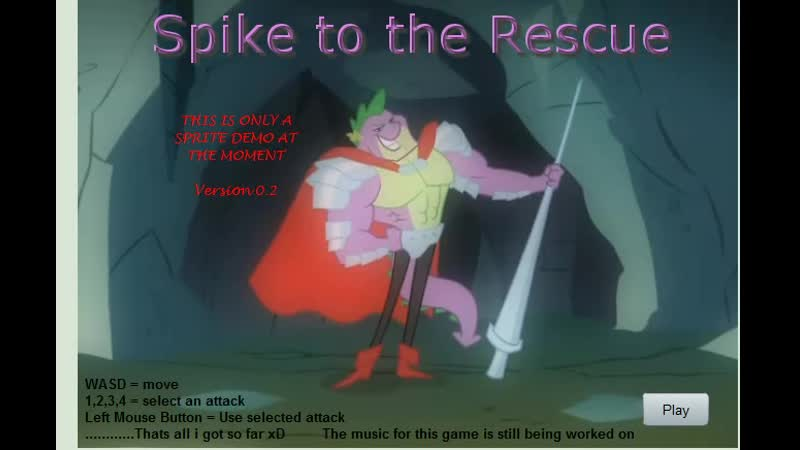My Little Pony game Spike to the Rescue.Взрослый Спайк дракон.11DeadFace